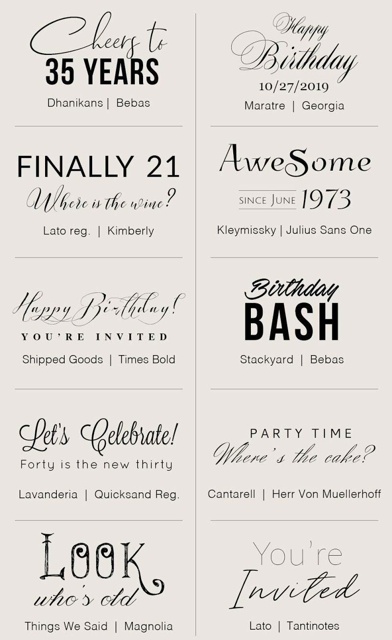 Fuentes de cumpleaños gratis