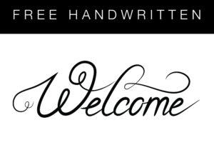 Fuentes de Bienvenida manuscritas gratuitas –– SVG y DXF
