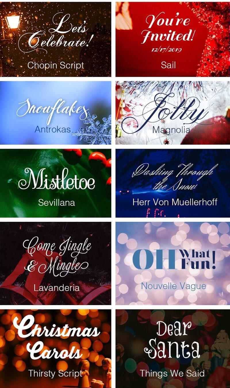 Fuentes de invierno gratuitas y decorativas