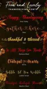 Fuentes gratuitas de Acción de Gracias