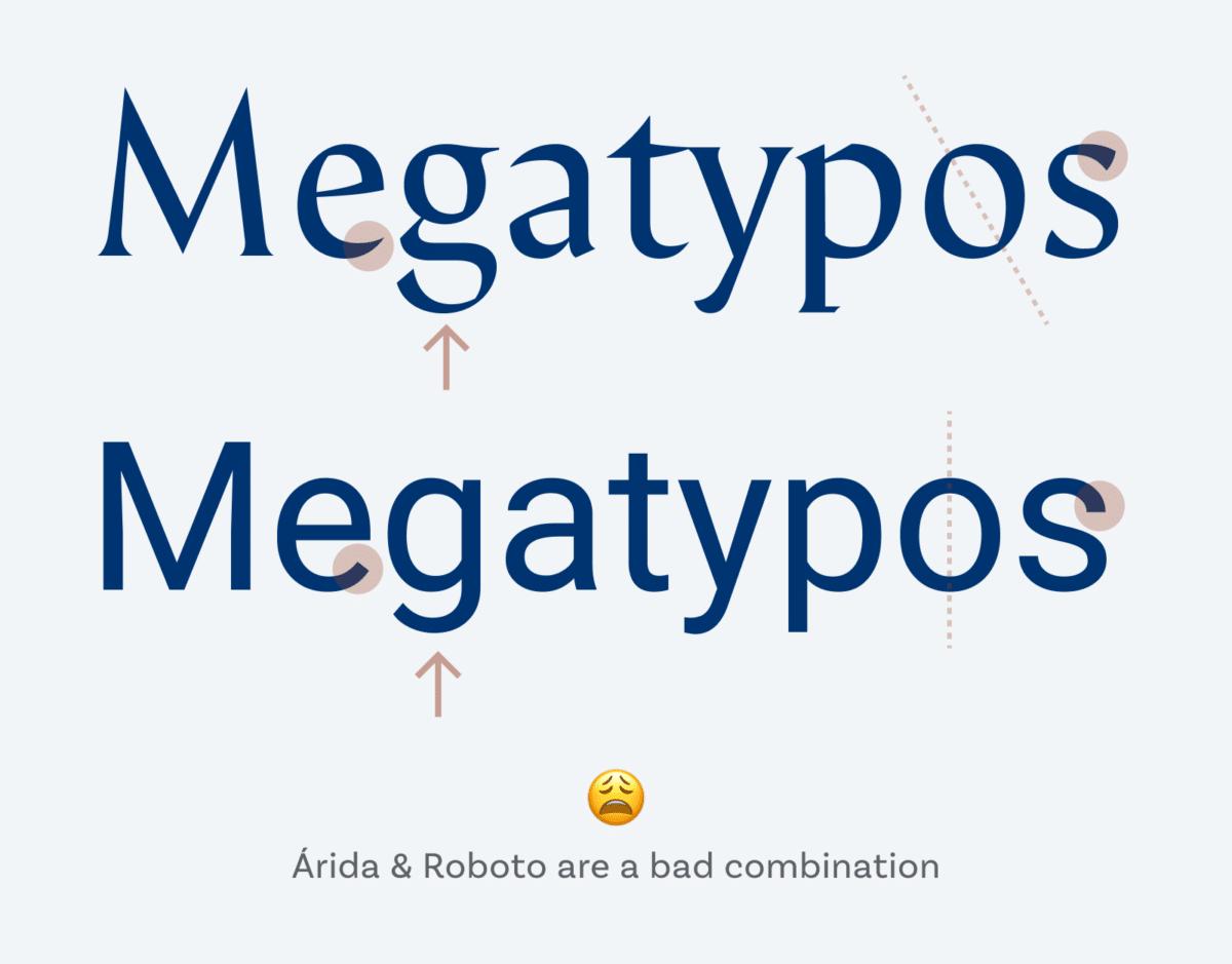 Árida y Roboto son una mala combinación