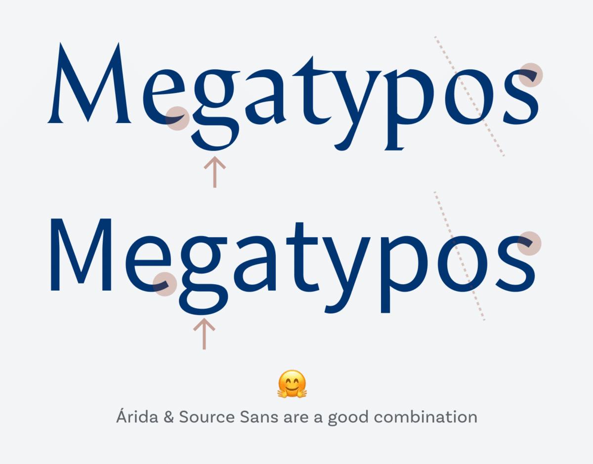 Árida y Source Sans son una buena combinación